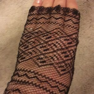 Accessories - Black lace texting gloves